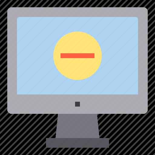 computer, delete, interface, technology icon