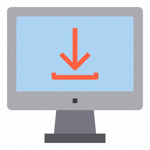computer, download, interface, technology icon