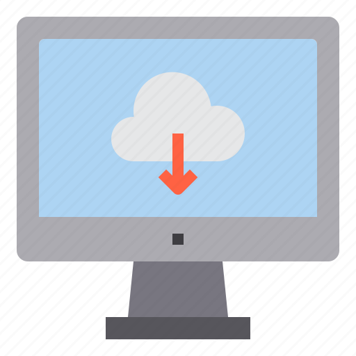 cloud, computer, computing, download, interface, technology icon