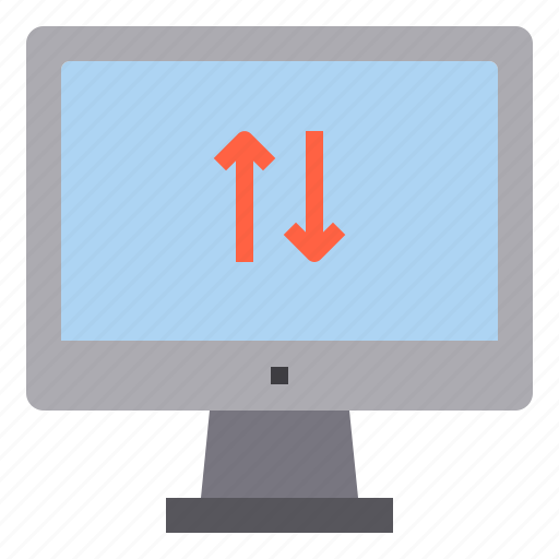 computer, download, exchange, interface, technology, upload icon