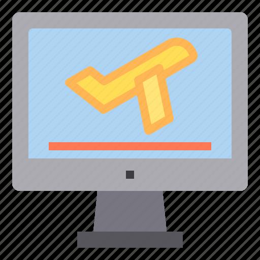 computer, flight, interface, plane, technology, travel icon