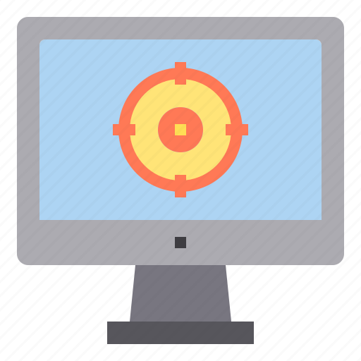 computer, goal, interface, target, technology icon