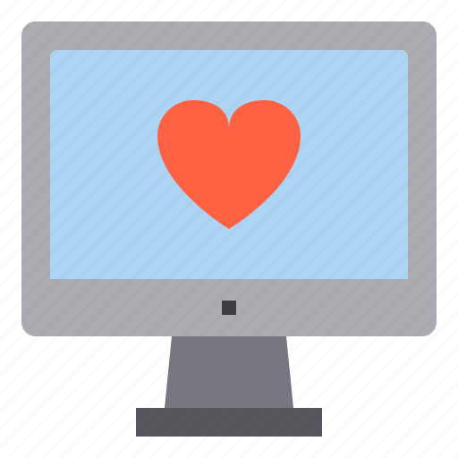 computer, health, heart, interface, technology icon