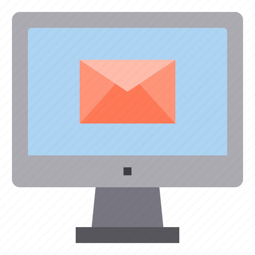 computer, email, interface, letter, mail, technology icon