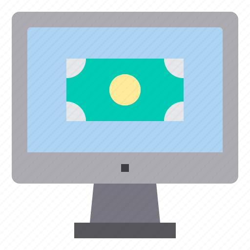 computer, interface, money, payment, technology icon