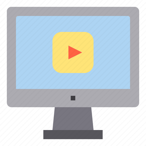 computer, interface, movie, music, player, technology icon