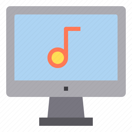 computer, interface, music, note, technology icon