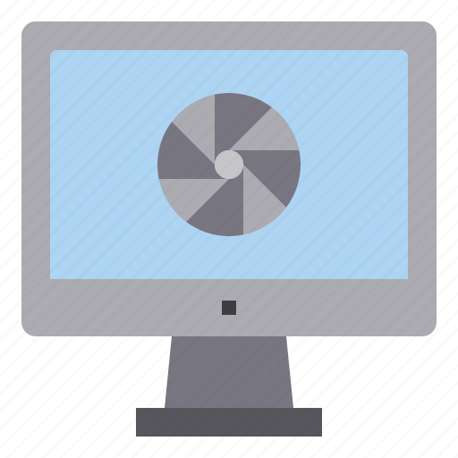 computer, entertainment, interface, photo, technology icon