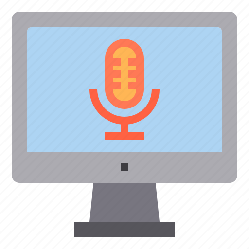 computer, interface, microphone, record, sound, technology icon