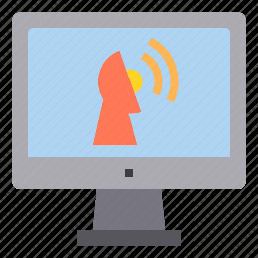 computer, interface, sattlelite, technology icon