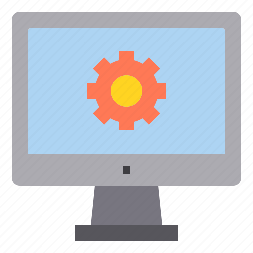 computer, interface, process, setting, technology icon