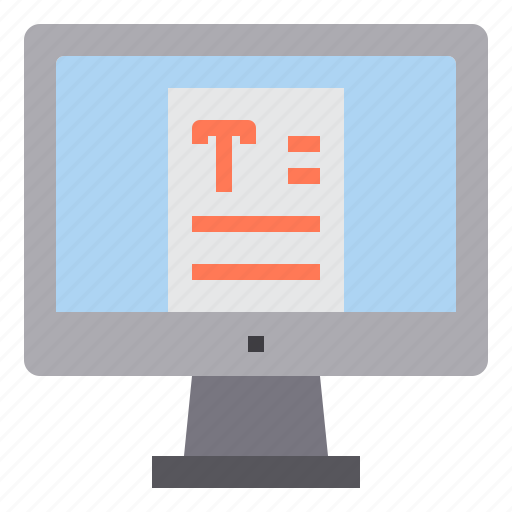 computer, interface, technology, text, writing icon