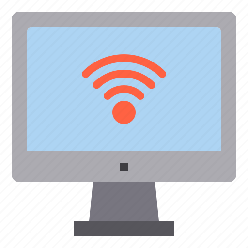 computer, interface, technology, wifi, wireless icon