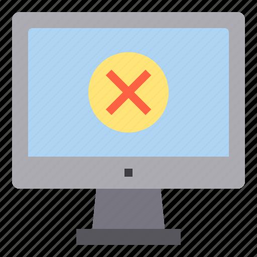 computer, interface, technology, warning, wrong icon