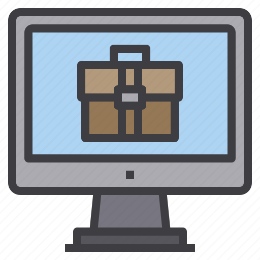 bag, business, computer, interface, technology icon