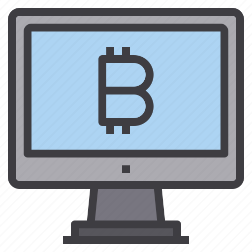 bitcoin, computer, interface, money, technology icon