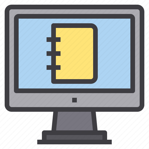 book, computer, interface, notebook, technology icon
