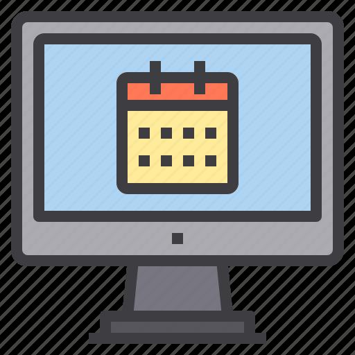 calendar, computer, interface, technology icon
