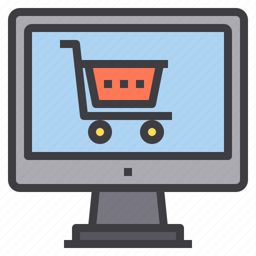 cart, computer, interface, shopping, technology icon