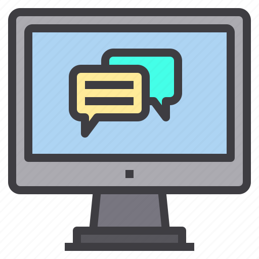 chat, computer, service, technology icon