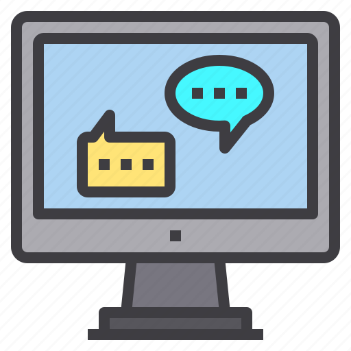 chat, computer, interface, service, technology icon