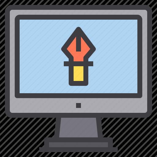 art, computer, creative, interface, technology icon