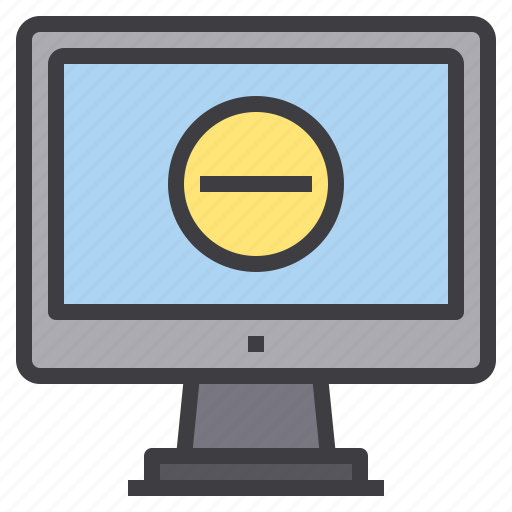 computer, delete, interface, technology icon