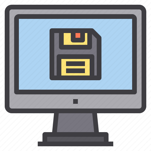 computer, data, disk, interface, technology icon