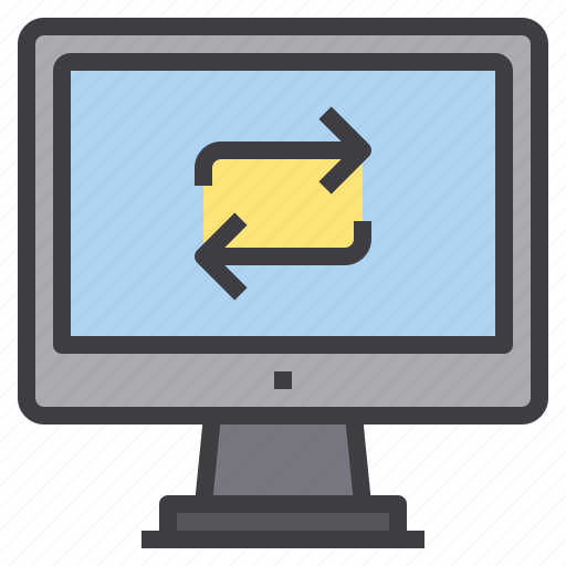 computer, exchange, interface, technology icon