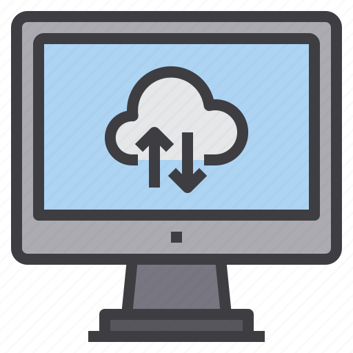 cloud, computer, computing, data, exchange, interface, technology icon