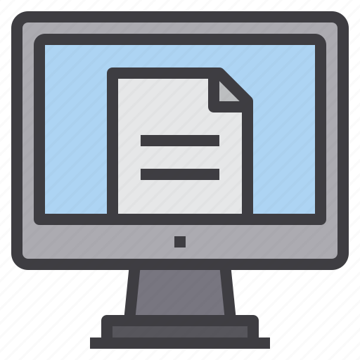 computer, file, interface, paper, technology icon