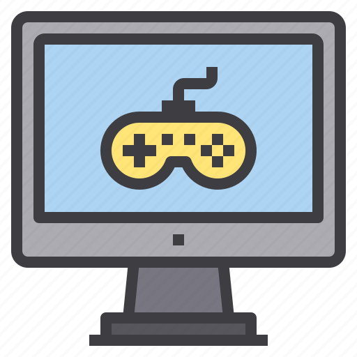 computer, game, interface, technology icon
