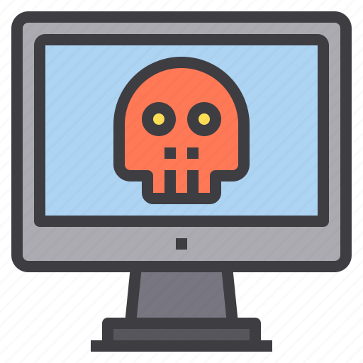 computer, ghost, hacker, interface, malware, technology icon