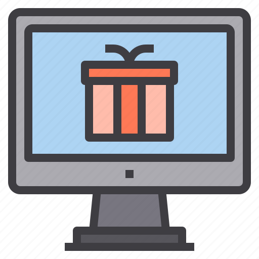 computer, gift, interface, technology icon