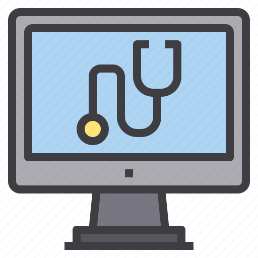 check, computer, health, hospital, medical, technology, up icon