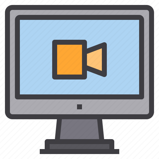 computer, interface, movie, technology icon