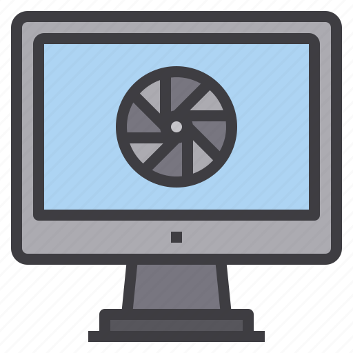 computer, entertainment, interface, photo, technology icon