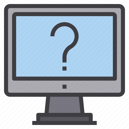 computer, help, interface, question, technology icon