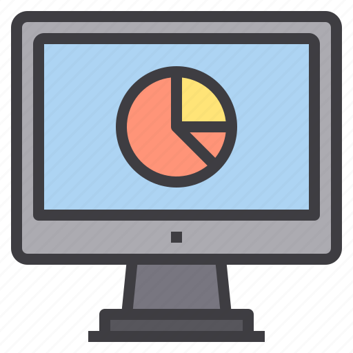 chart, computer, interface, report, technology icon