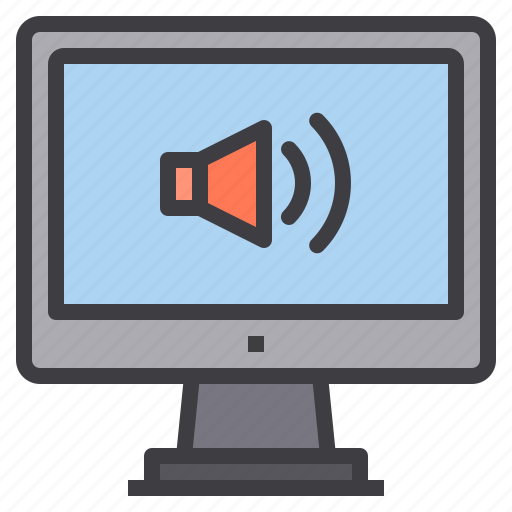 computer, interface, sound, technology, volume icon