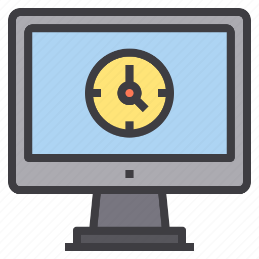 clock, computer, interface, technology, time icon