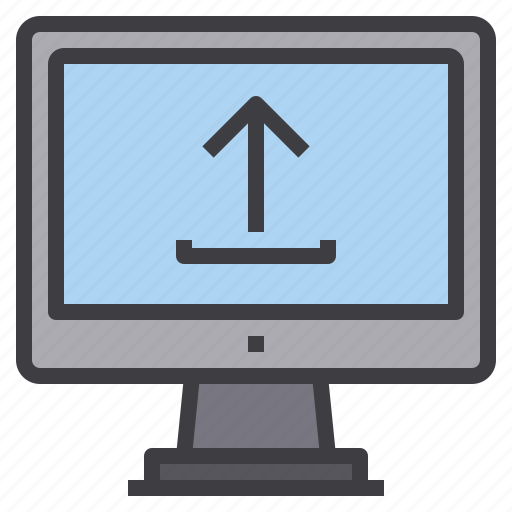 computer, interface, technology, upload icon