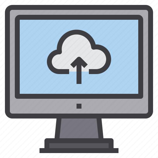 cloud, computer, computing, interface, technology, upload icon