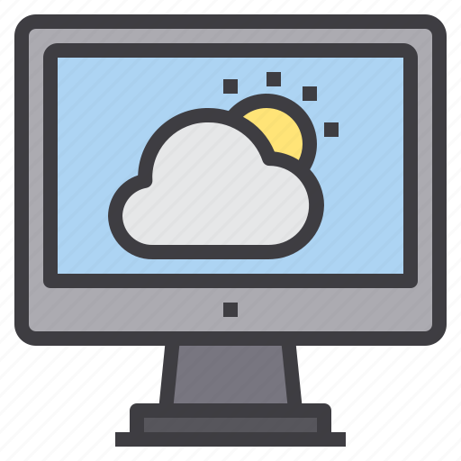 computer, interface, technology, weather icon