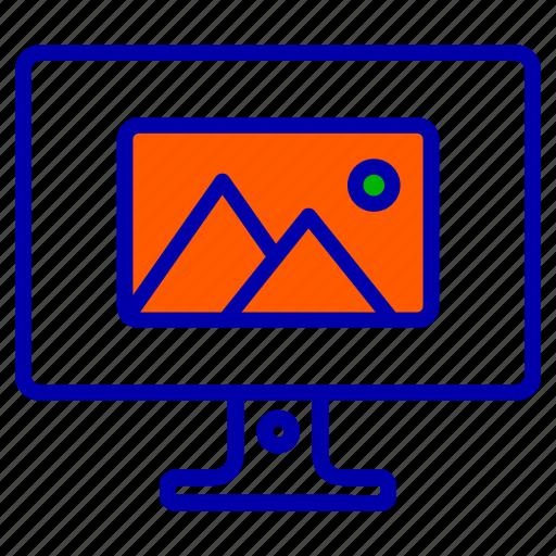 communications, computer, device, media, monitor, web icon