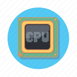 chip, cpu, microprocessor, pc, technology icon