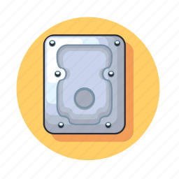 data, device, disk, hard, storage, technology icon