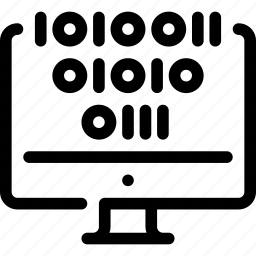 binary, code, coding, computer, pc icon
