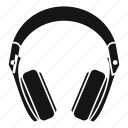 headphone, modern, music, sound, stereo, volume icon
