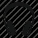 headphone, modern, music, sound, stereo, volume icon